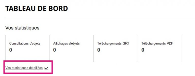 Image expliquant où cliquer pour accéder à ses statistiques détaillées de promotion du territoire sur le widgets